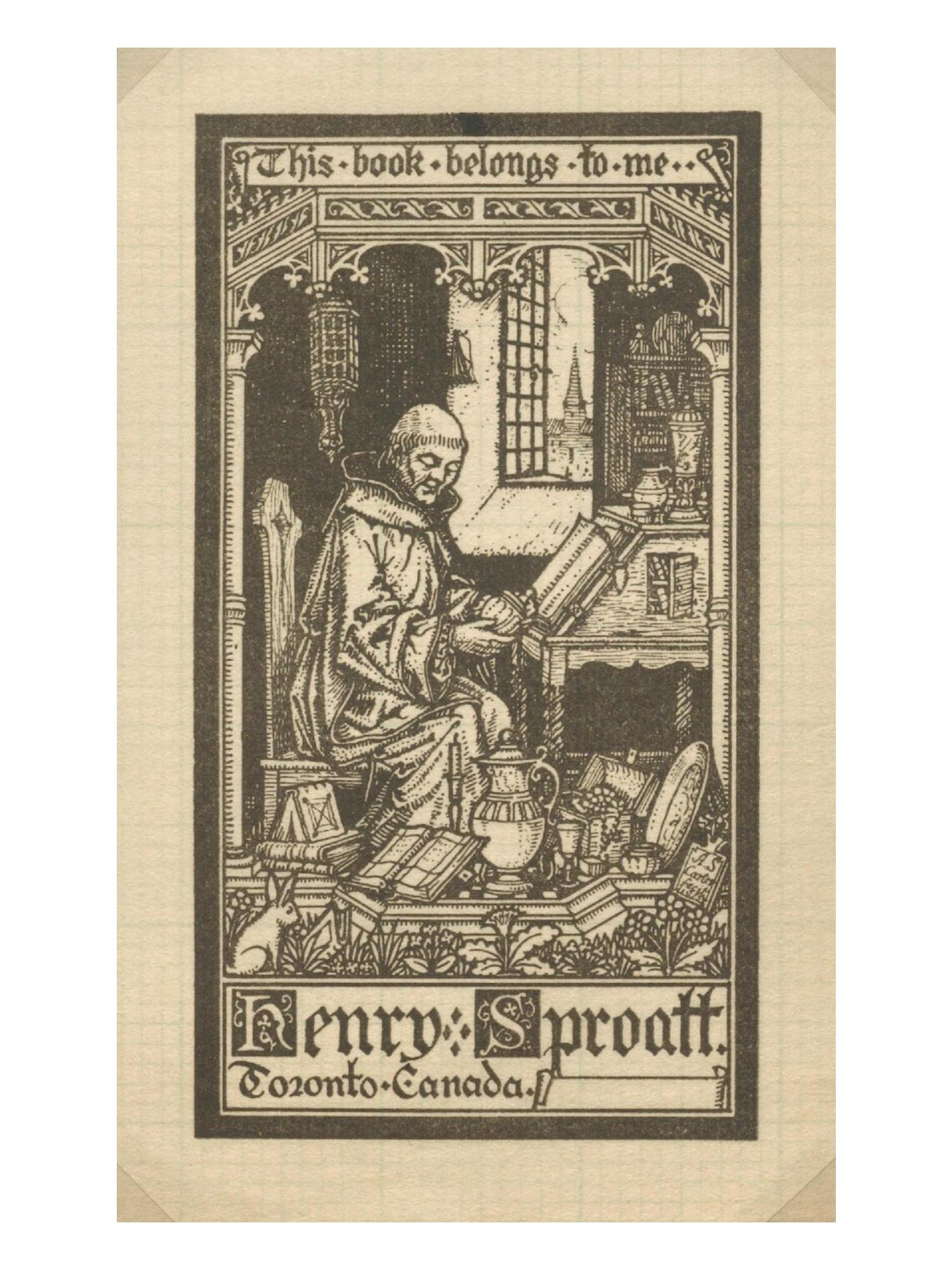 Bookplate by Alexander Scott Carter